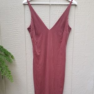Velvet striped dress